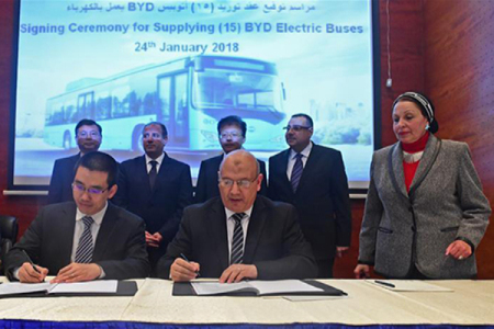 Egypt: China's BYD to provide electric buses