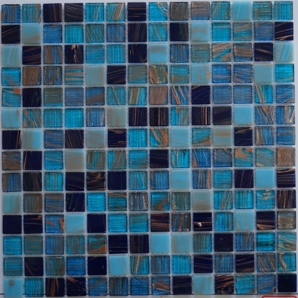 Square Blue Blend Hot Melt Glass Mosaic buying leads