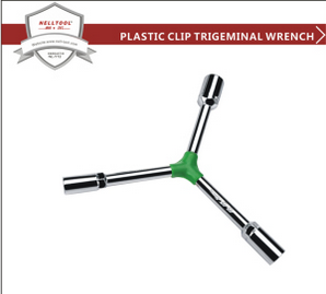 Chrome Plated Trigeminal Wrench with Plastic Clip 8*10*12mm buying leads