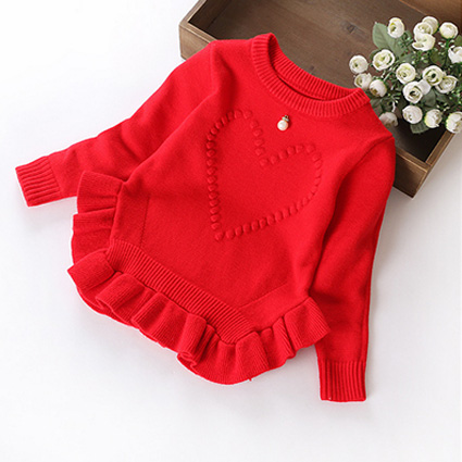 Phoebee Wholesale Knitted Sweater Girl′s Clothing