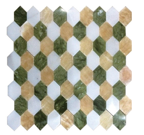 Mixed Color Nature Stone Mosaic for The Television Background Wall (FYSSC048)