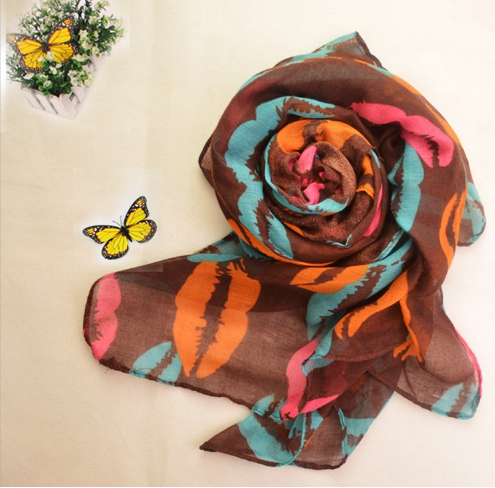 Hot Selling Fashion Multi Color Women Voile Fabric for Scarf