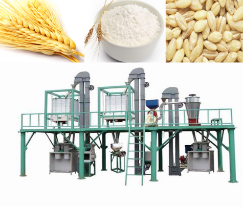 140t/D Automatic Steel Structured Wheat Flour Milling Line