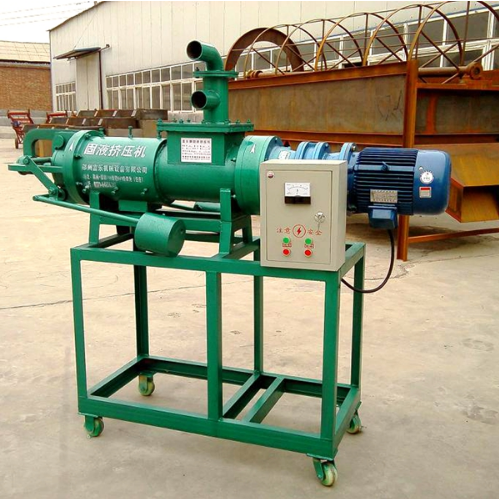 Solid Liquid Separator Cow Dung Dewatering Machine