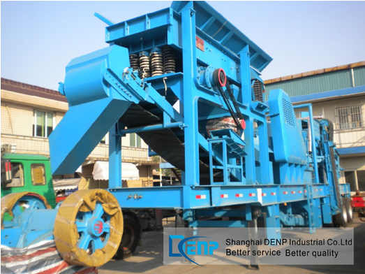 Cost-Effective Equipment Mobile Minerals Mining Machine with Crusher, Conveyor