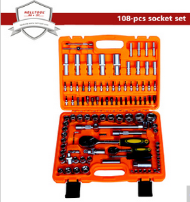 Chrome Vanadium Steel Socket Tool Set 108-PCS