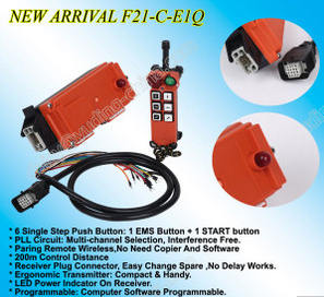 New Arrival 200m Pll Remote Control F21-C-E1q Wireless Remote Control