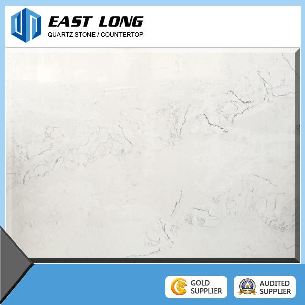 White Marble Color Artificial Quartz Stone Slabs/Quartz Stone Countertops for Kitchentop