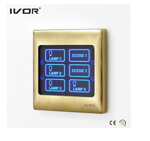 4 Gangs Lighting Switch Control & 2 Gangs Scene Setting Touch Switch (SK-T3000CAN)