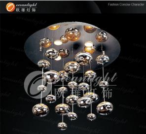 Murano Glass Lighting, Chandelier Lamp Glass Ball Pendant Light, Glass Lighting (OM802-60)