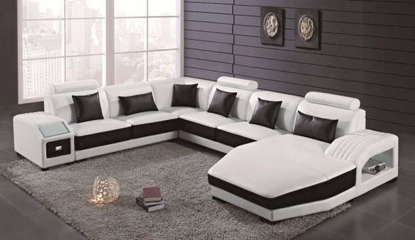 Hot Sales Home Furniture Top Leather Sofa 2204