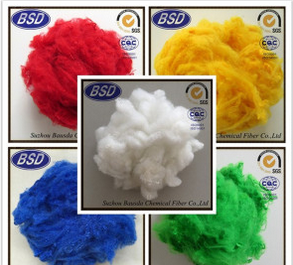 Regenerated Colored Polyester Staple Fiber PSF for Automotive Interior Use