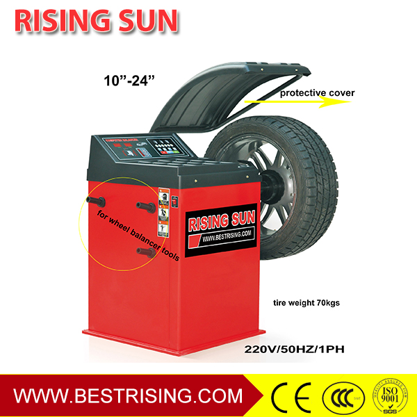 Garage used car wheel balancing equipment