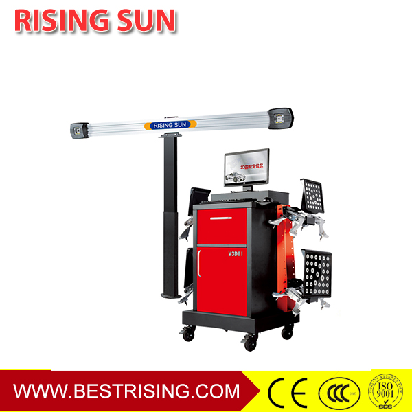 Auto repair used 3D wheel alignment system
