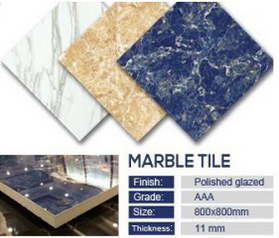 Polished Porcelain Marble Stone Flooring Tile (JM83005C)