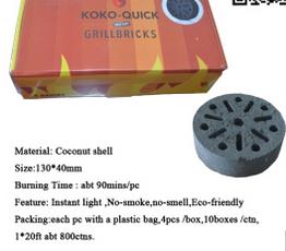 Honeycomb Coconut Shell Instant Light BBQ Charcoal Briquette