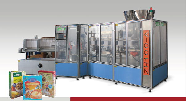 Box Filling, Sealing Packing Machine for Detergent Powder\Coffee\Macaroni (ZH100-A)