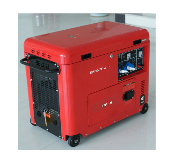 Bison (China) BS6500dsec 5kw 5kVA 5000W Copper Wire Air-Cooled 1 Year Guranteed Silent Portable Marine Diesel Generator