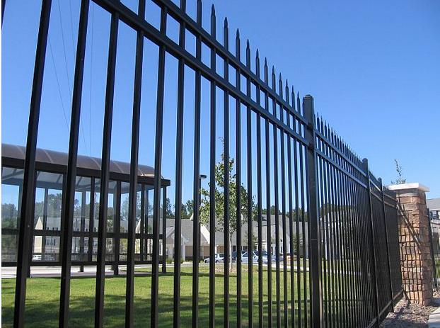 Black Powder Coated High Security Decorative Welded Ornamental Steel Fencing
