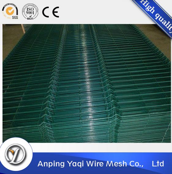 high praise durable green vinyl coated welded wire mesh fence panels in 6 gauge