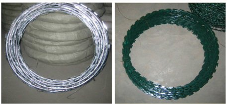 Colourful Powder-Coating Razor Barbed Wire