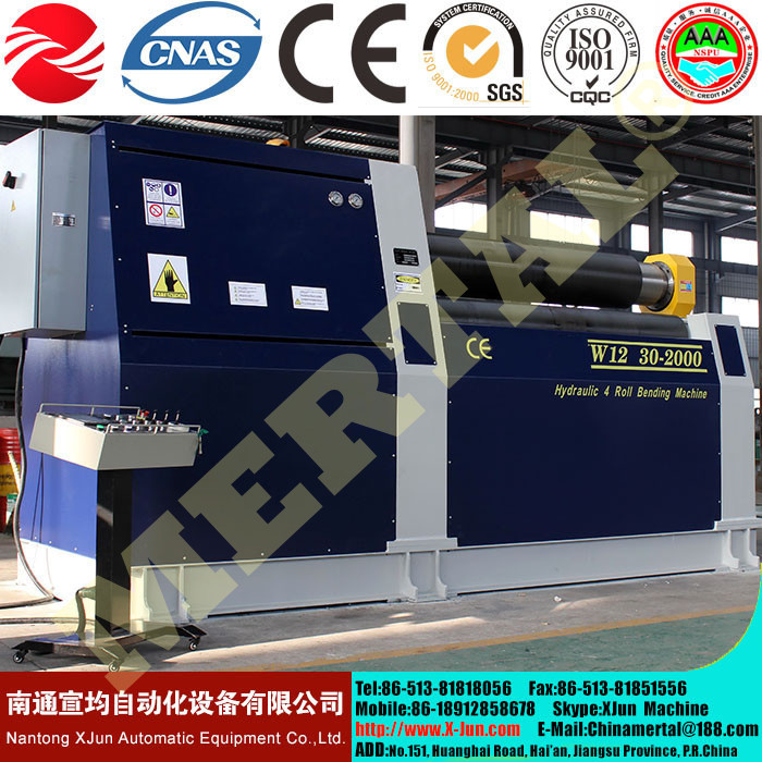 CE cert Hydraulic High Quality Steel Bending Machine W12 16x3200 4 rolls symmetrical plate bending roller machine price