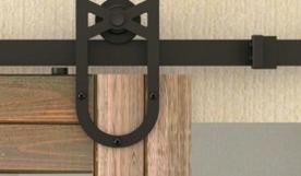Black Sliding Door System Sliding Door Hardware (LS-SDU 6009)