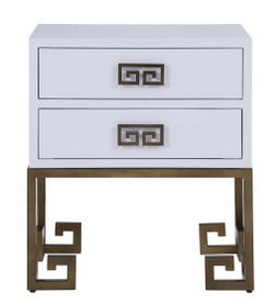Bronze Color Metail Base/2 Drawer