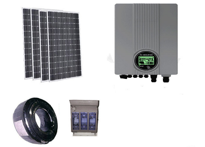 on Grid Solar Kit Solar Panel 1500W/ 1kVA/ 1kw Inverter/Accessory