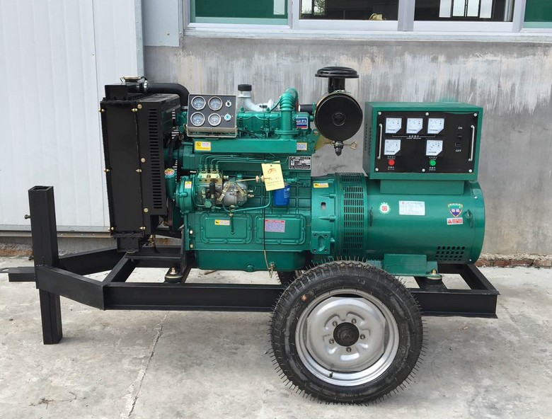 MUTE 50 kw diesel generator set mute rain - proof mobile fully automatic configuration of optional quality guarantee