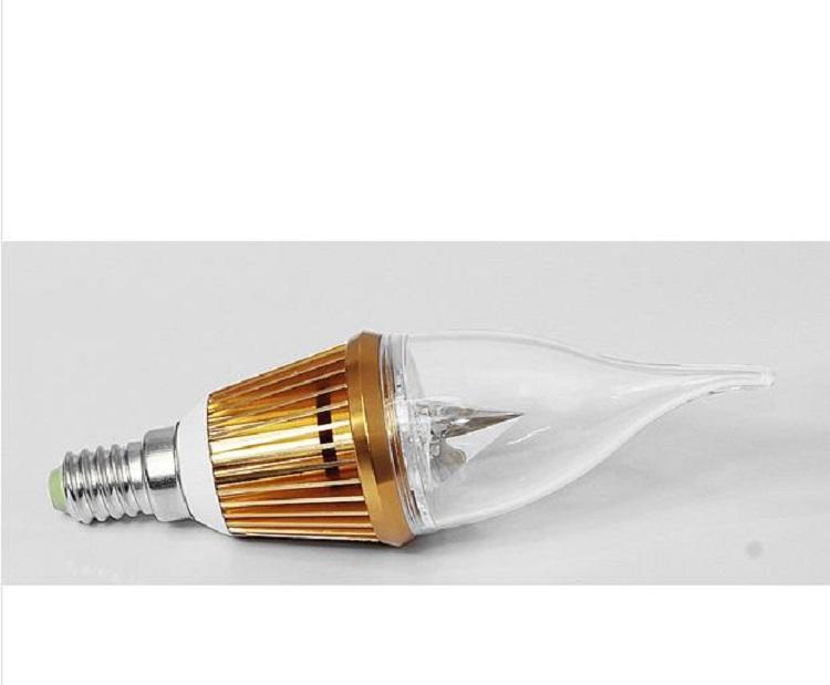 3W E14 Golden Color LED Candle Bulb Light (LC-JP005)