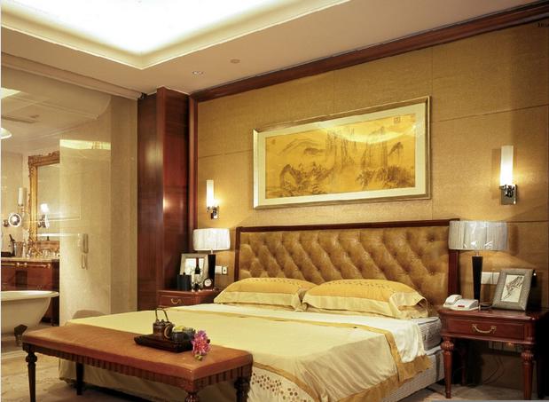 Luxury Kingsize Hotel Bedroom Furniture/Standard Hotel Single Room Set (GLB-00002)