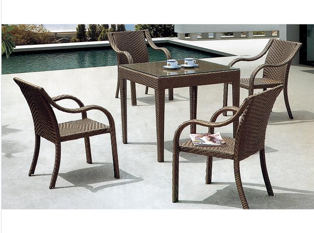 PE Rattan Furniture Outdoor Wicker Furniture Dining Set