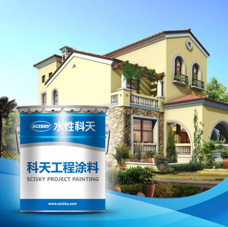 Oversea Project Exterior Wall Coating Villa Waterproof Coating for Outer wall Fireproof Painting