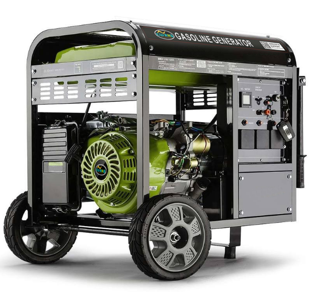 3kw to 6kw Air-Cooled 100%Copper Gasoline Generator with Wheels