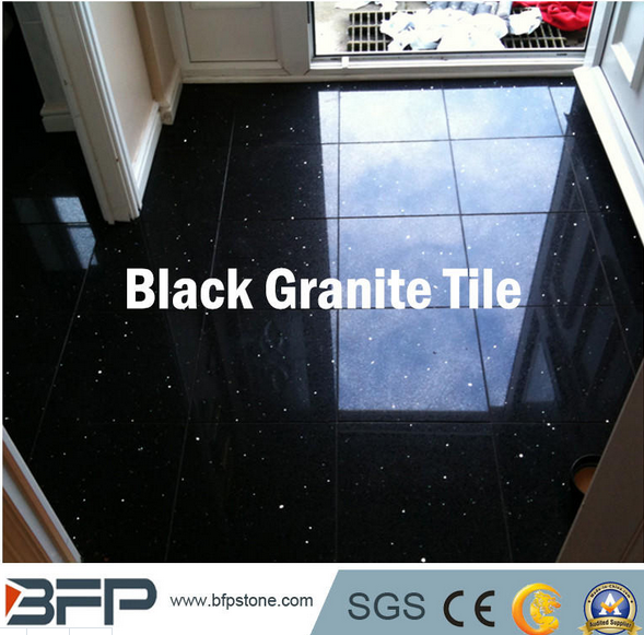 Natural Black Granite for Floor Tile, Paving Stone, Stair, Window Sill, Countertop