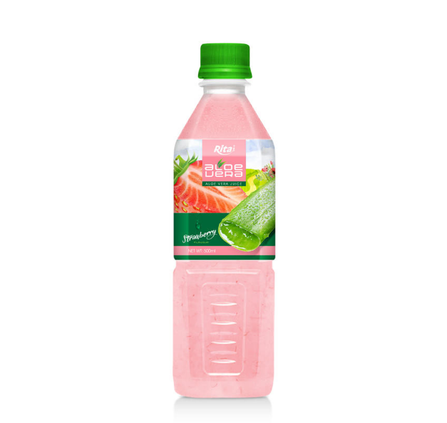 500ml Pet Bottle Strawberry Flavor Aloe Vera