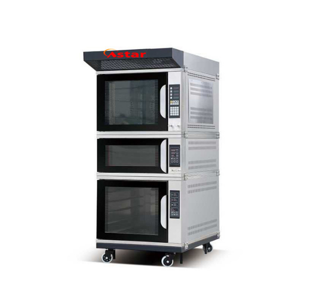 Gas 5trays Convection Oven+Single Deck Oven+5trays Proofer Combination Oven Baking Oven