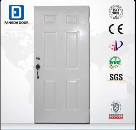 Fangda Classic 6 Panel Steel Door in High Quality