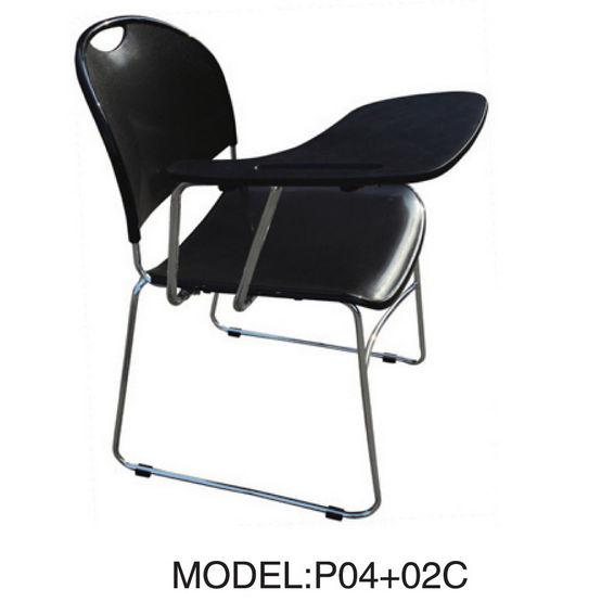 Plastic Chair with Tablet (P04+02C)