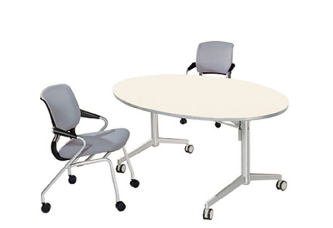 Oval Conference Table, Foldable Training Desk (HD-04B1)