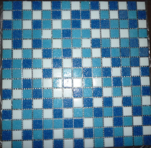Swimming Pool Quartz Dots Mosaic Tile
