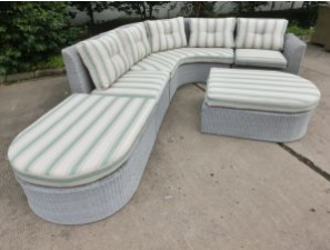 Outdoor Wicker Furniture Round Rattan Sofa Set Garden Furniture
