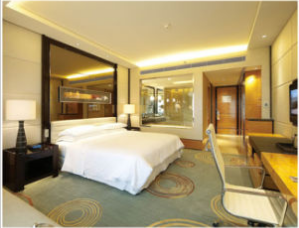 Chinese Furniture / Wooden Luxury Hotel Bedroom Furniture
