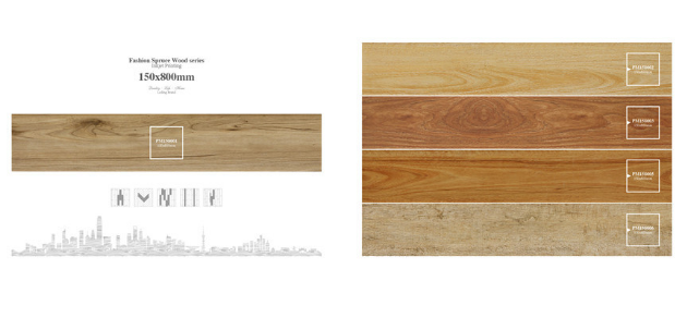Latest Building Materials Wood Look Good Sale Tile