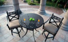 High-Quality Rose Land 3 Piece Bar Set Garden Furniture