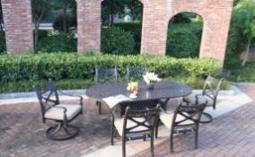 Garden Cast Aluminum 7 PC. Dining Set Furniture