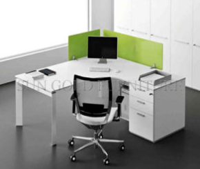 Popular Single Workstation Style Office Desk with Acrylic Partition (SZ-WS674)