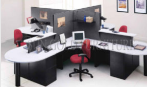 Modern Great Storage Wooden Office Cubicle for 4 Person (SZ-WS668)