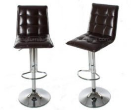 High Adjustable PU Leather Bar Chair